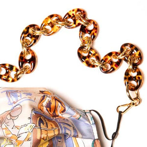 Oval Double Link Acrylic & Gold Complete Chain™ exclusively at VintageLuxeUp.com