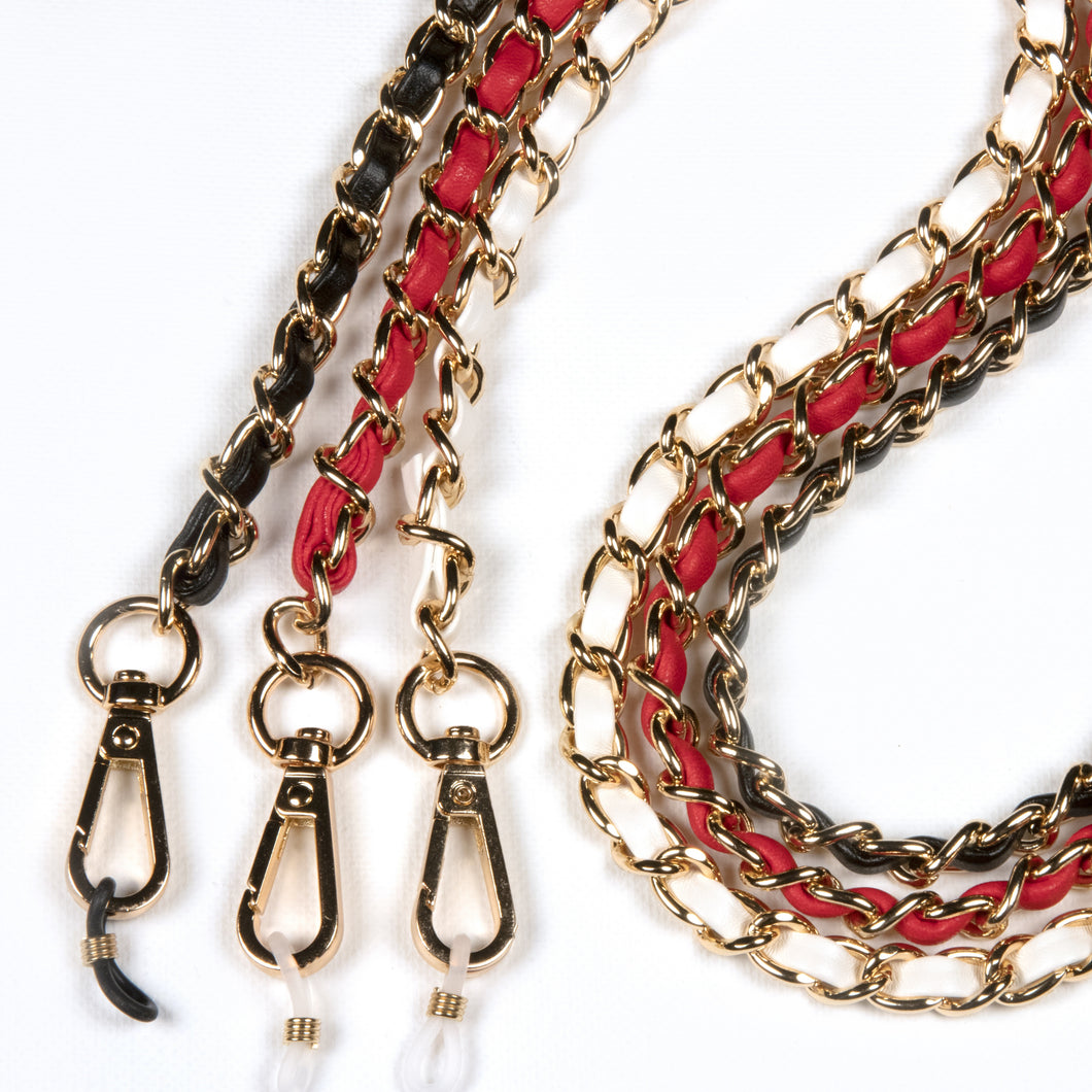 Woven Leather & Gold Complete Chain™ exclusively at VintageLuxeUp.com