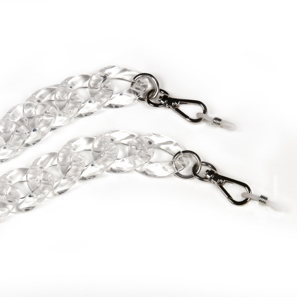 Oval Single Link Clear Acrylic Complete Chain™  exclusively at VintageLuxeUp.com