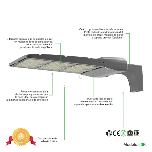 [luminarias_LED_lampara] - Besser Lighting - Luminaria LED Parking Lot V2 Series