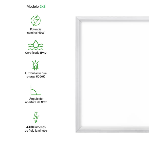 [luminarias_LED_lampara] - Besser Lighting - Panel LED Flat Panel Series