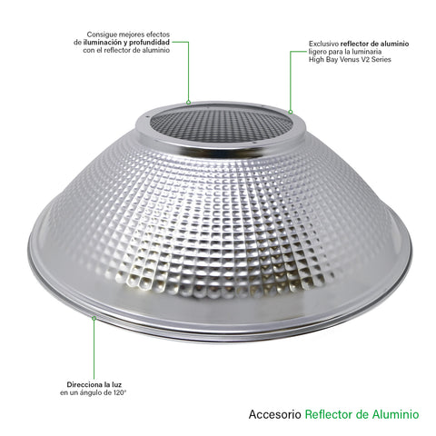 [luminarias_LED_lampara] - Besser Lighting - Reflector de Aluminio