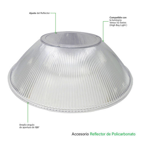 [luminarias_LED_lampara] - Besser Lighting - Reflector de Policarbonato