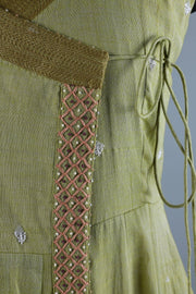 Embroidered cotton angrakha with matching bottom