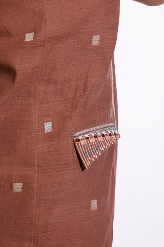 Jamdani Cape with Nehru collar