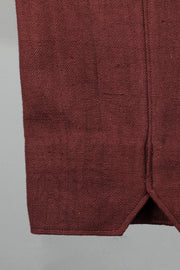 Maroon regular fit khadi trouser
