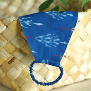 Sapphire blue 3 layered handloom cotton ikat mask