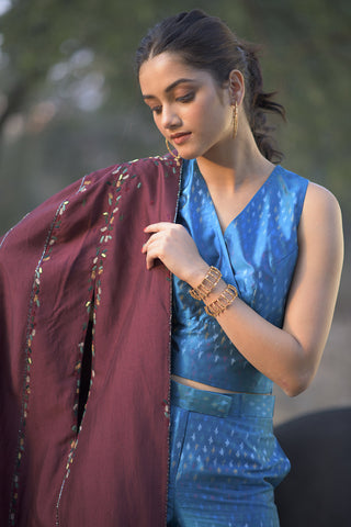 Hand woven,  embroidered cape