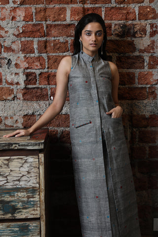 Ponduru (khadi) grey cape