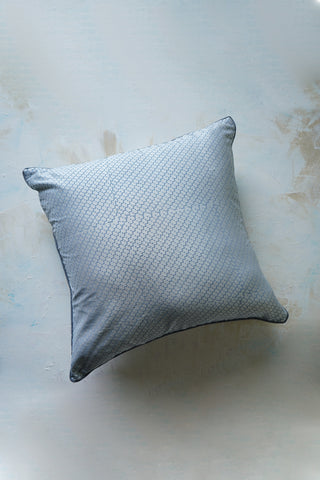 Pure silk cushion cover with tone on tone hand block print