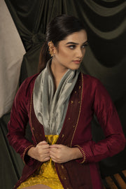 Embroidered panelled jacket