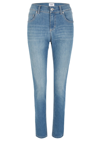 Angels Skinny Ankle Zip Jeans Light Blue Used