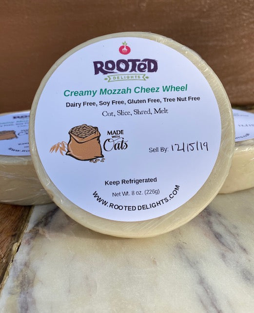 Oat Milk Creamy Mozzah Cheez Wheel