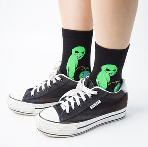 Creative Fashion Street Art Funny Alien Planet Socks