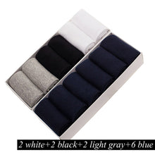 Load image into Gallery viewer, 12 Pairs Plus Size Men's Breathable Business Cotton Socks Men
