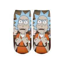 Load image into Gallery viewer, Newest Rick and Morty 3D Printed Short Ankle Socks