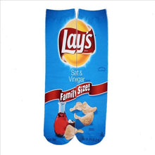 Load image into Gallery viewer, 3D Unisex Socks Potato Chips Printing