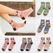 Load image into Gallery viewer, Girls Christmas Comfortable breathable Cotton Socks