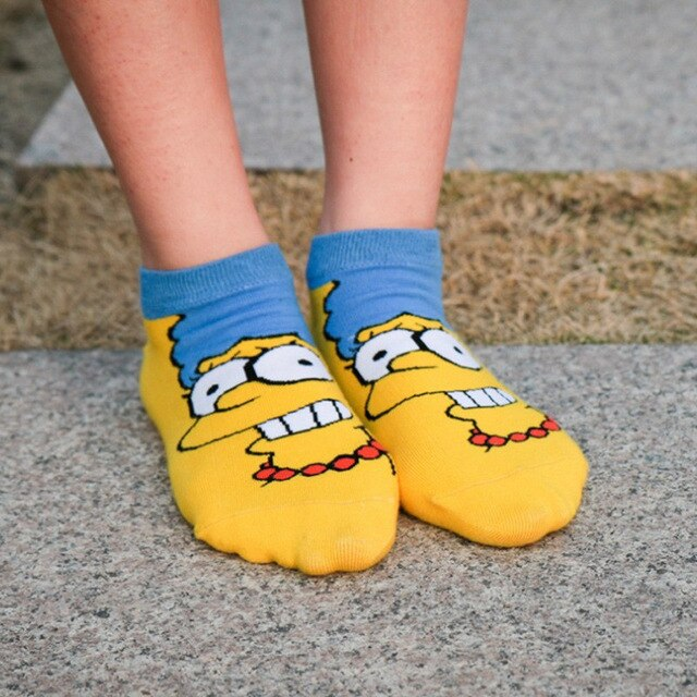 The Simpsons Cute Cotton Socks