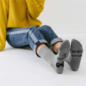 Women Men Wine Socks Letter Printed IF YOU CAN READ THIS Compression Sock Stylish Unisex Funny Socks Amozae Couple Meias