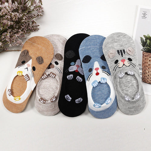 28 Style, 5 Pairs/lot Cute Animal Socks Women