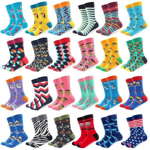 1 Pair Colorful Combed Cotton Crazy Socks