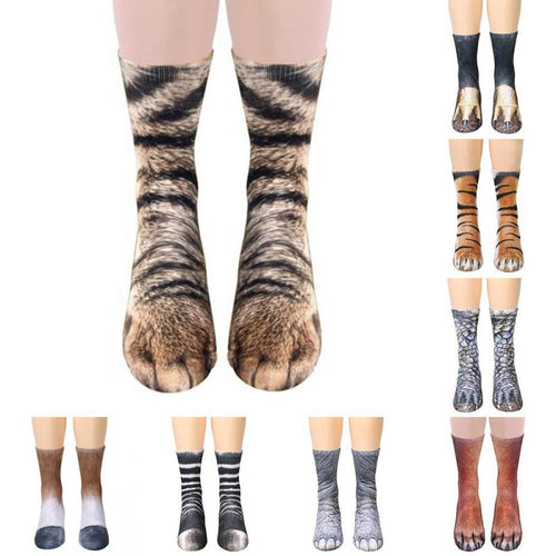 1 Pair weird 3D Animals Print Socks
