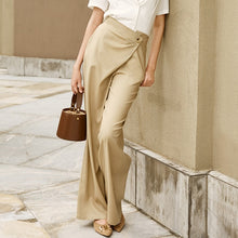 Load image into Gallery viewer, Elegant Asymmetrical Full Length Pants High Waist Wide Leg Summer Pants