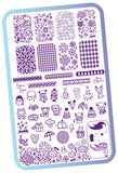 365 Days of Stamping - Plate Collection - H la Cosedora - Nail Art Stamping Plates Polishes Kit