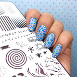 Back to Basics - H la Cosedora - Nail Art Stamping Plates Polishes Kit