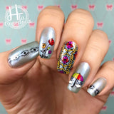 Dreamer - H la Cosedora - Nail Art Stamping Plates Polishes Kit
