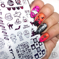 Life is a Party 1 - H la Cosedora - Nail Art Stamping Plates Polishes Kit