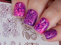 Cool in the Pool - H la Cosedora - Nail Art Stamping Plates Polishes Kit