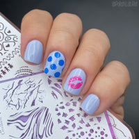 Free Will - H la Cosedora - Nail Art Stamping Plates Polishes Kit