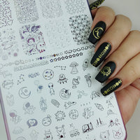 Space Oddity - New - H la Cosedora - Nail Art Stamping Plates Polishes Kit