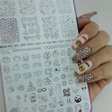 Fortune Cookie - New - H la Cosedora - Nail Art Stamping Plates Polishes Kit