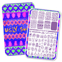 Ugly Sweater - H la Cosedora - Nail Art Stamping Plates Polishes Kit