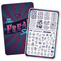 ''The Freak Show'' 🎃  Special Edition Bundle - H la Cosedora - Nail Art Stamping Plates Polishes Kit