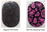 Pink Candy - Stamping Polish - H la Cosedora - Nail Art Stamping Plates Polishes Kit