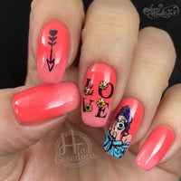 Empowered - H la Cosedora - Nail Art Stamping Plates Polishes Kit