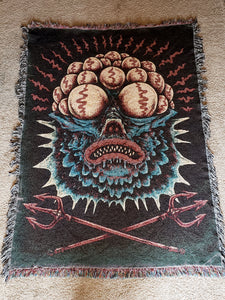 Fish Commander Woven Blanket