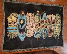 Load image into Gallery viewer, 7 Monster Heads in a Row Blanket