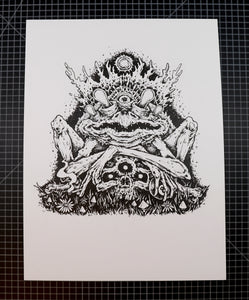 Original Me Goblin Ink Drawing