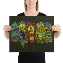 Load image into Gallery viewer, 5 Monster Heads In a Row Print