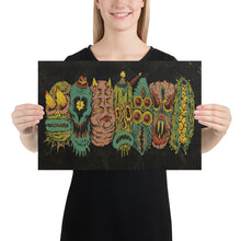 Load image into Gallery viewer, 7 Monster Heads in a Row Print