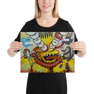 Bootleg Bart on ACID print