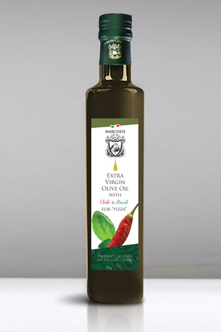 Basil & Chili  Aromatic Infused First Cold Pressed Extra Virgin Olive Oil For pizza