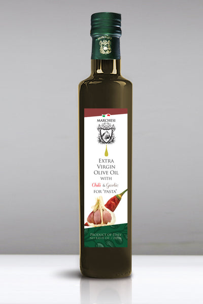 Garlic & Chili  Aromatic Infused First Cold Pressed Extra Virgin Olive Oil