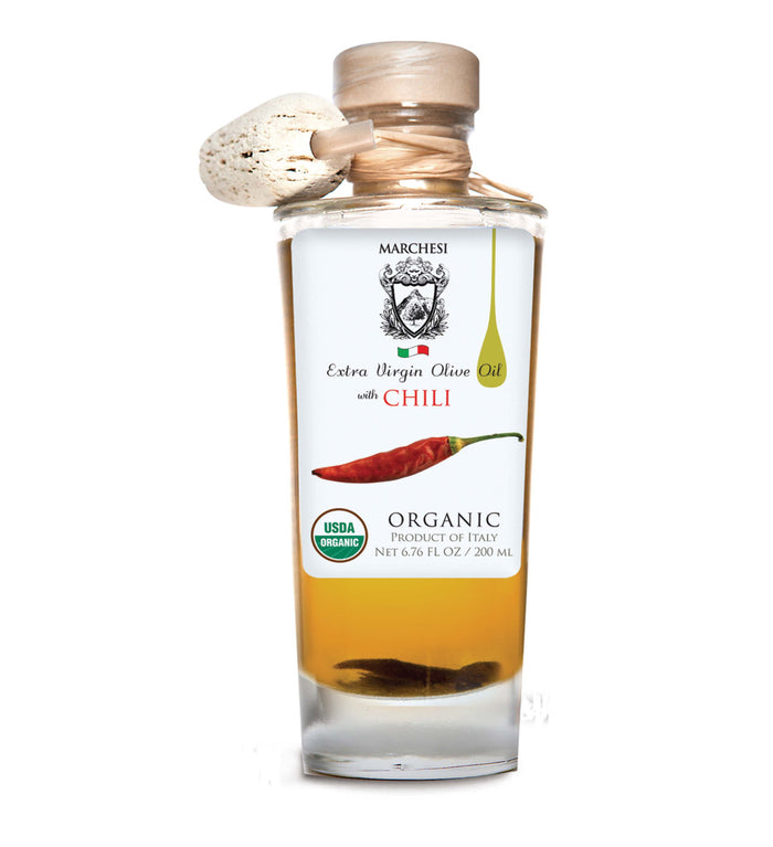 Organic Infused First Cold Pressed Extra Virgin Olive Oil - Chili