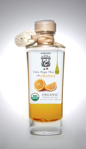Organic Infused First Cold Pressed Extra Virgin Olive Oil - Orange